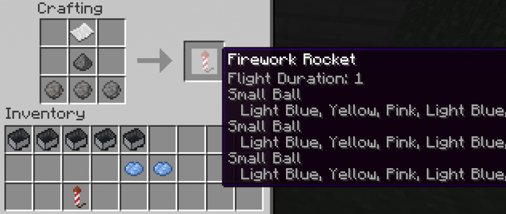 Pc Minecraft How To Craft Fireworks