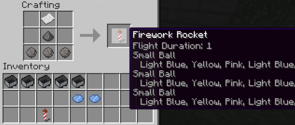 Как сделать в minecraft фейерверки