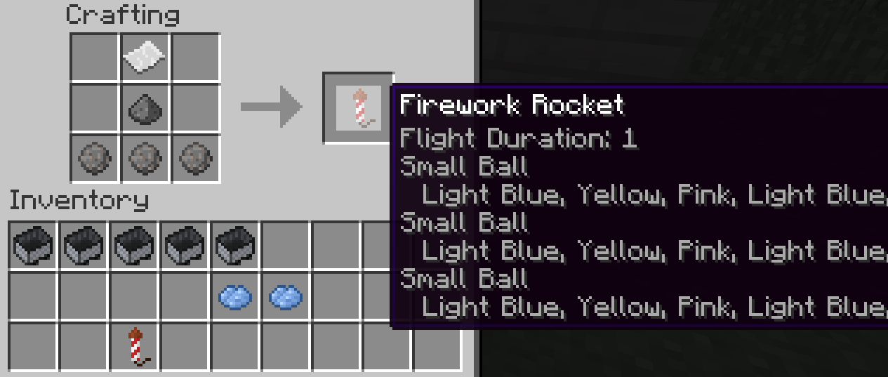 firework rocket minecraft - photo #42