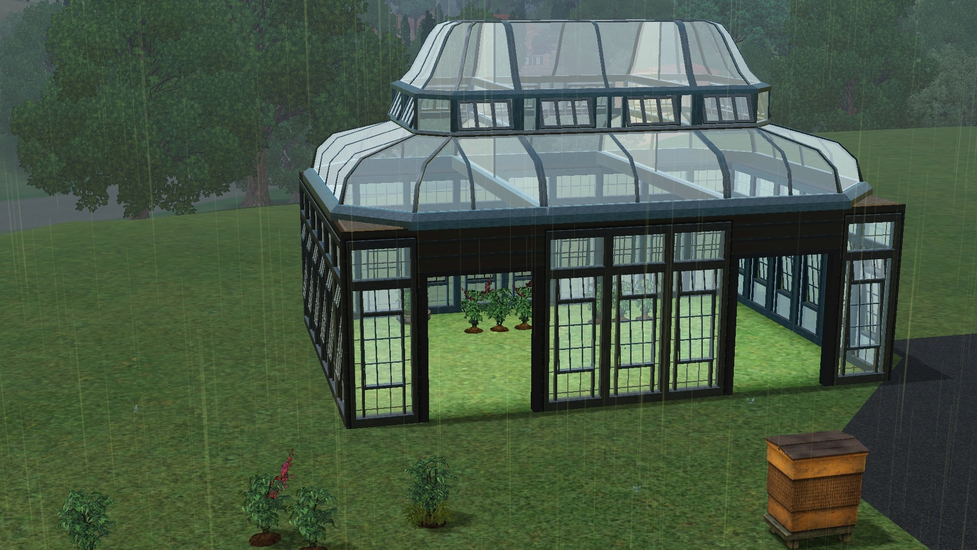 sims 3 plants inside greenhouse