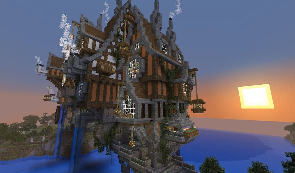 minecraft steampunk build