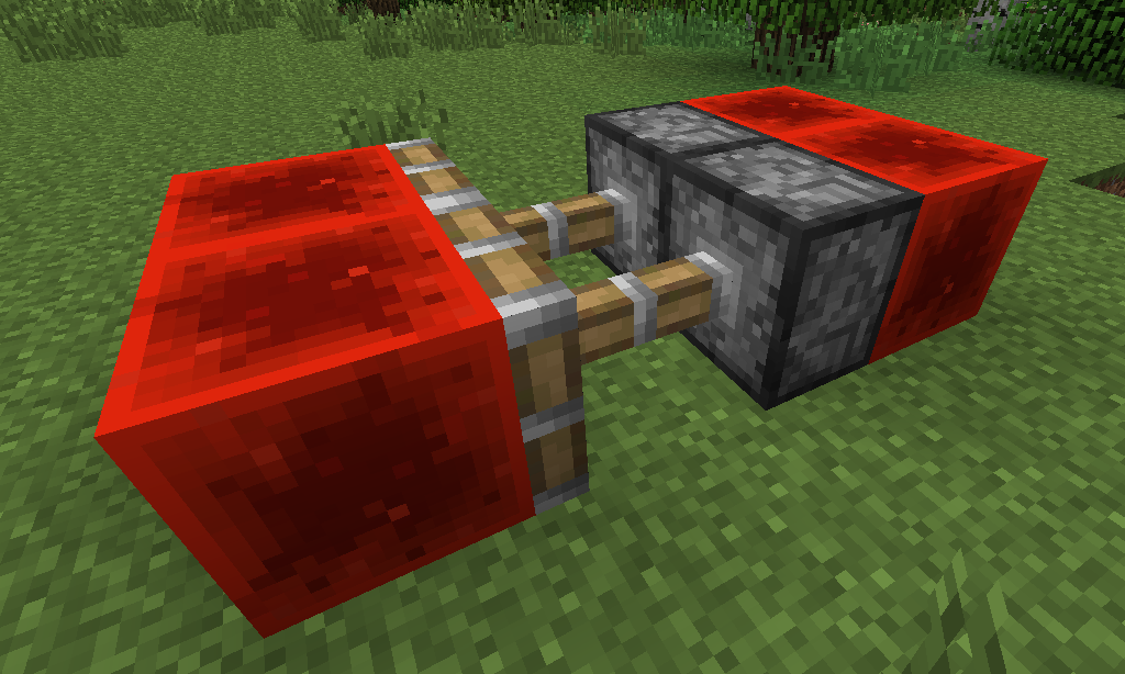 redstone blocks and sticky pistons