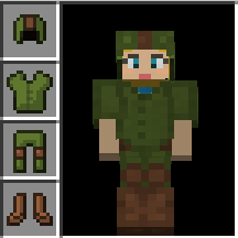 all dressed up as link in minecraft