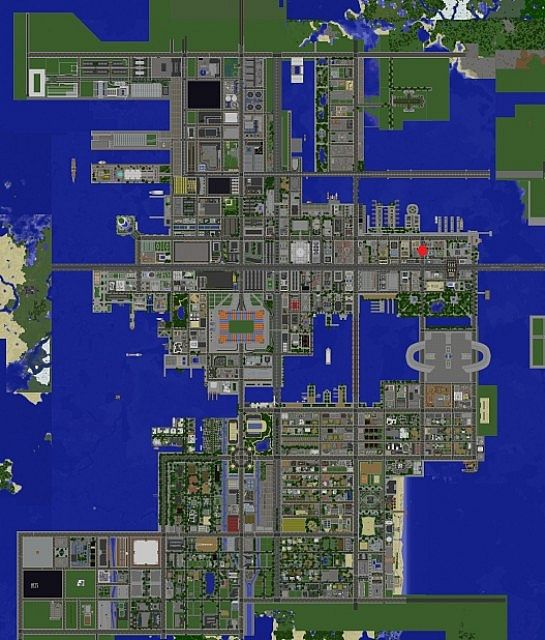greenfield minecraft modern city map download map