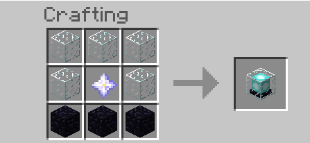 minecraft beacon crafting recipe