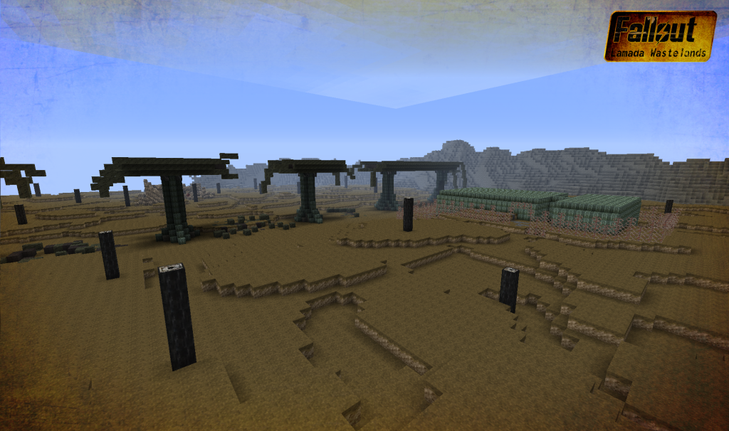 minecraft destroyed overpasses fallout adventure map download