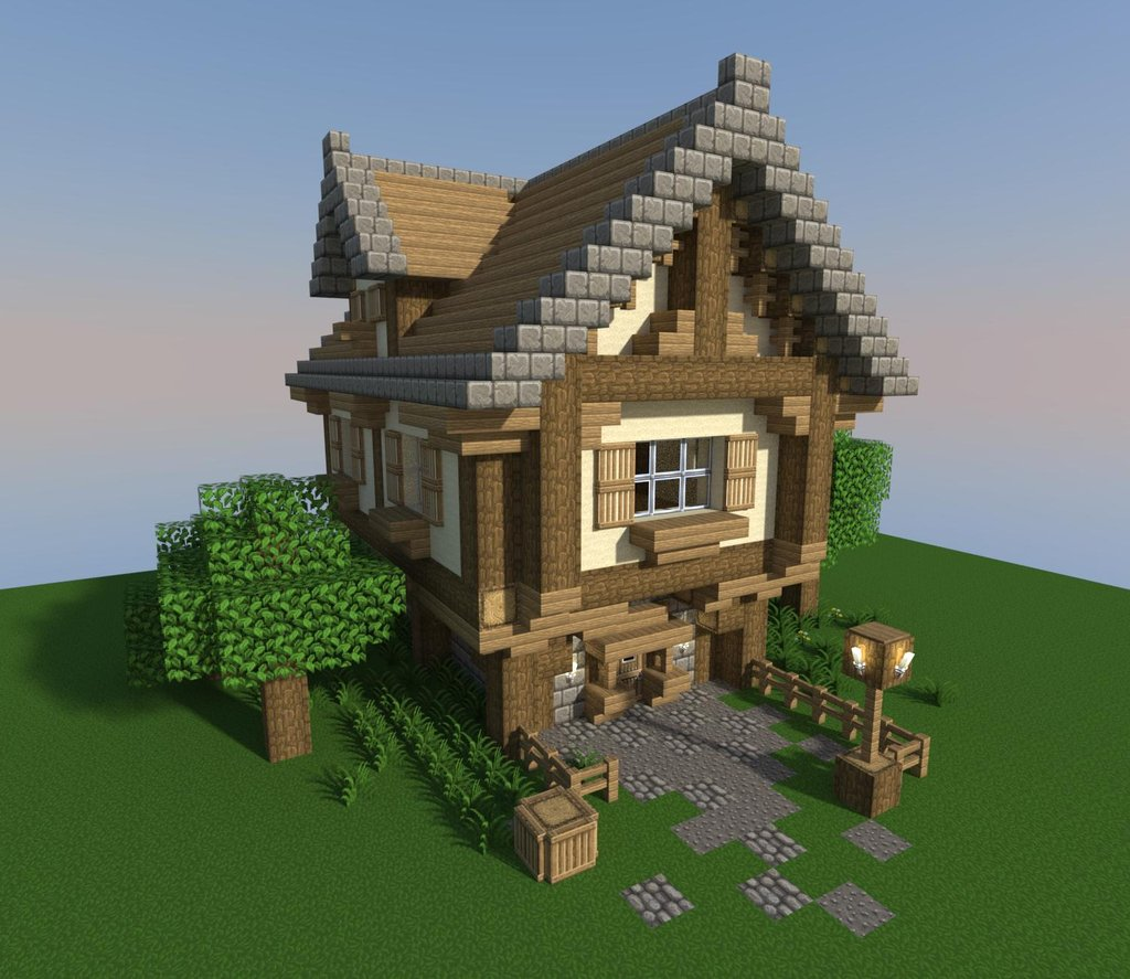 My little tudor house by the sea minecraft for Building a house step by step