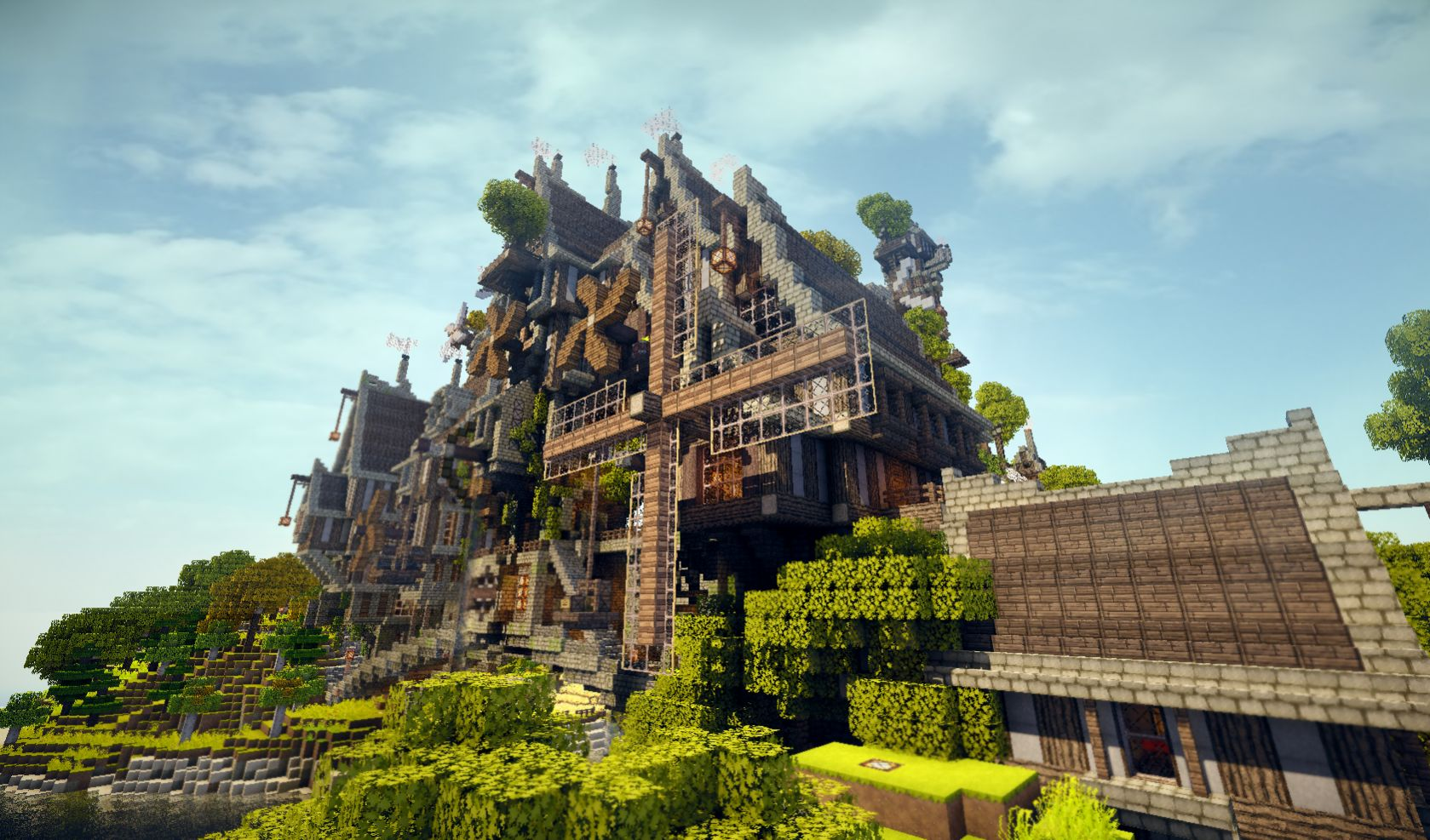 Steamshire minecraft steunk island custom map download