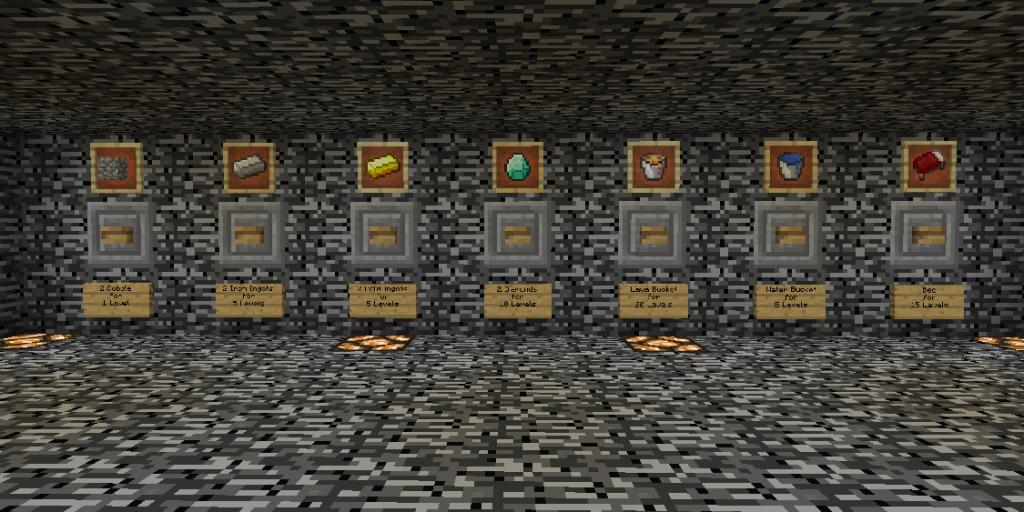 minecraft survival map shop