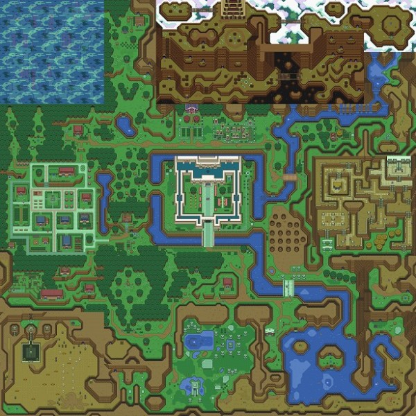 a link to the past minecraft map