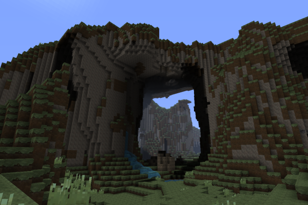 extreme minecraft cave tunnel