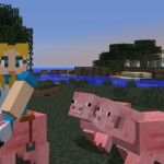 How To Ride A Minecraft Pig (With Carrot And Stick)