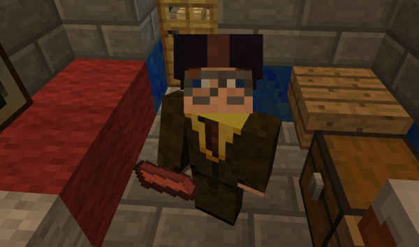 me and my enchanted brick against the zombie hordes
