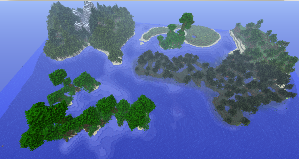 minecraft biome isle survival map