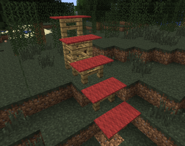minecraft carpet fence stairs