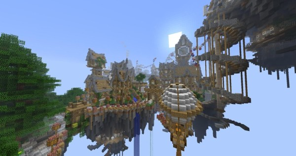 minecraft city in the skyFloating City In The Sky Minecraft
