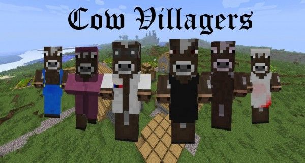 minecraft cow villagers texture pack