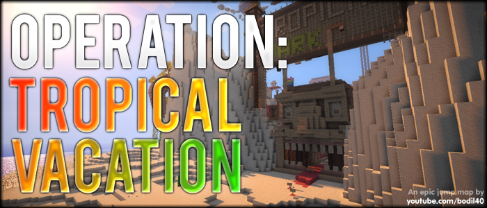 Tropical Vacation, Minecraft Epic Jump Map Download