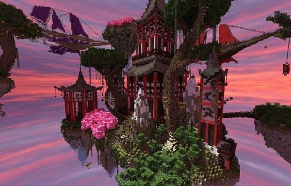 minecraft fantasy sky island download
