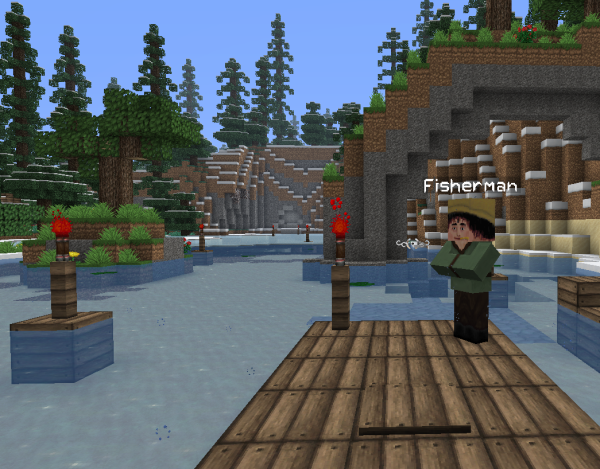 minecraft fishing quest map