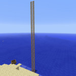 How To Make Free Standing Ladders In Minecraft