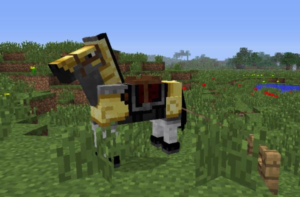 minecraft gold horse armor