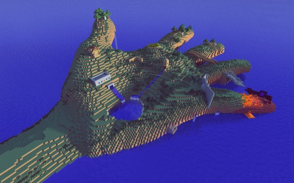 minecraft hand island download
