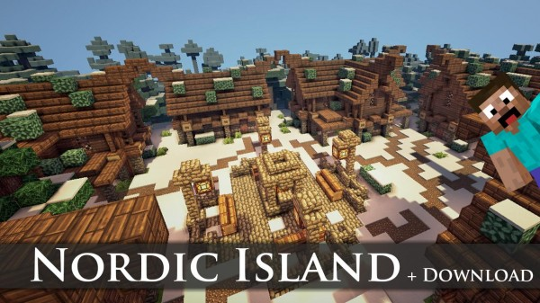 minecraft nord island skyrim download