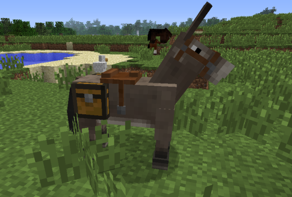 minecraft pack mule with chest