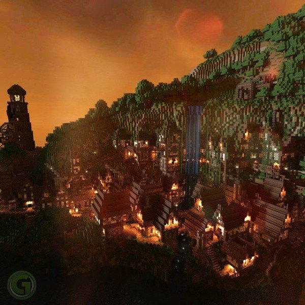 minecraft peasant castle district