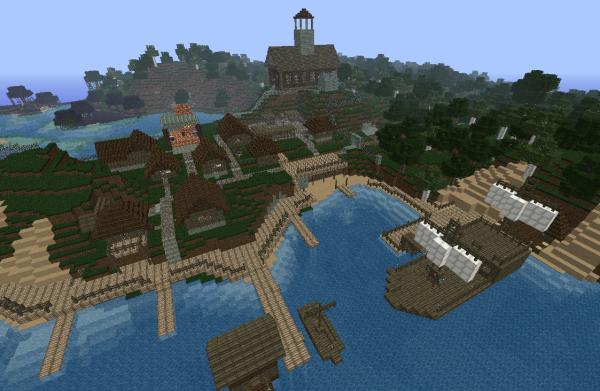 minecraft seaside village map download