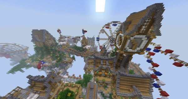Download Cielo  Floating Minecraft City Map Floating City In The Sky Minecraft
