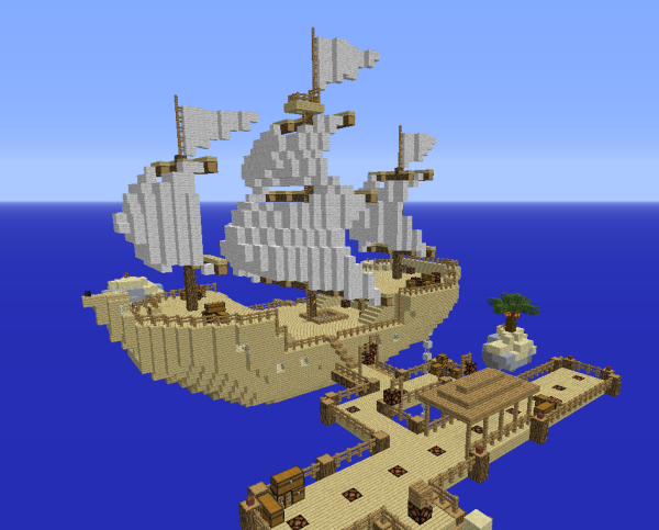 minecraft sky ship survival map download