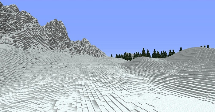 minecraft snow heights