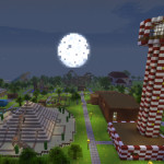Theme Block World, Minecraft Rollercoaster Theme Park Map Download