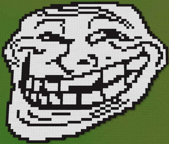 minecraft troll face