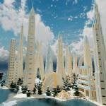 Minecraft Water City   Fantasy City On Sea