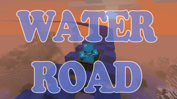 minecraft water road water ride how to