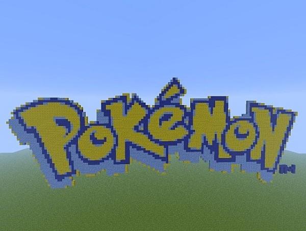 pokemon logo pixel art