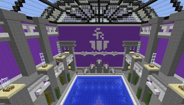 saints row minecraft swimming pool map download