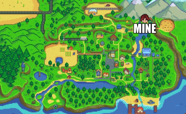 where is the stardew valley mine